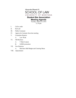 Student Bar Association Meeting Agenda