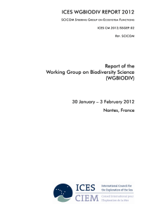 ICES WGBIODIV REPORT 2012