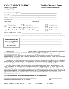 CAMPUS RECREATION  Facility Request Form