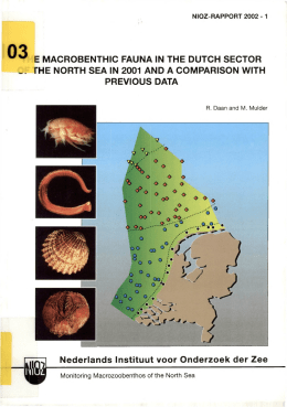 E  MACROBENTHIC  FAUNA IN  THE  DUTCH ... rHE  NORTH  SEA IN  2001  AND... PREVIOUS  DATA