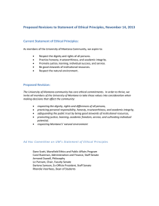 Proposed Revisions to Statement of Ethical Principles, November 14, 2013