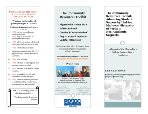 The Community Resources Toolkit