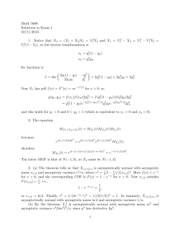 Math 5080 Solutions to Exam 1 10/11/2013 − X