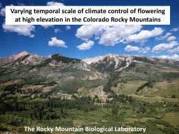 Varying temporal scale of climate control of flowering