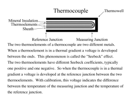 The two thermoelements of a thermocouple are two different metals.