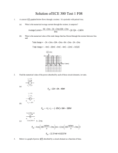 Solution of ECE 300 Test 1 F08 ( )