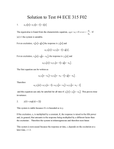 Solution to Test #4 ECE 315 F02 [ ] [ ]