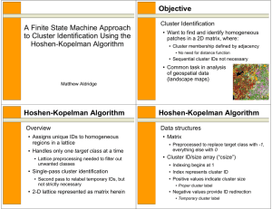 A Finite State Machine Approach to Cluster Identification Using the Hoshen-Kopelman Algorithm Objective
