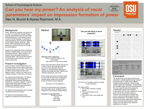 Can you hear my power? An analysis of vocal