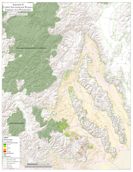 Appendix D Conifer Encroachment Program Emphasis Area Prioritization Salmon-Challis National Forest