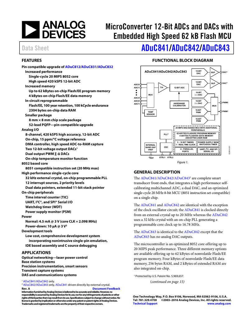 Aduc841 Aduc842 Aduc843 Diagram Wiring Rz 088