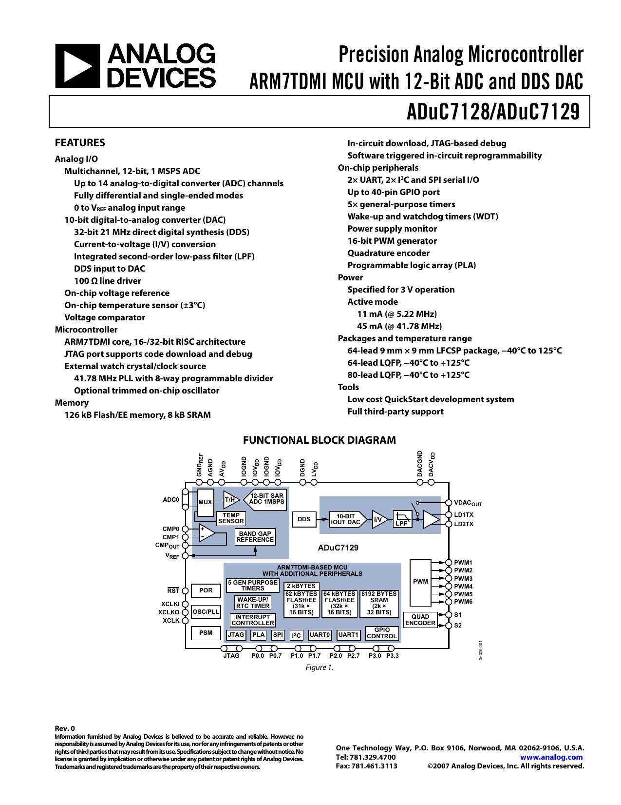 Precision Analog Microcontroller ARM7TDMI MCU with 12-Bit