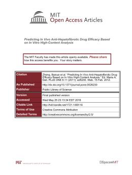 Predicting In Vivo Anti-Hepatofibrotic Drug Efficacy Based Please share