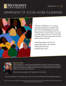 DEPARTMENT OF SOCIAL WORK FUNDRAISER