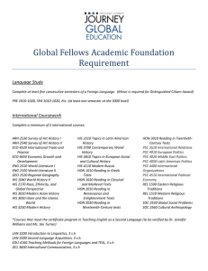 Global Fellows Academic Foundation Requirement Language Study