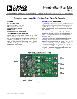 Evaluation Board User Guide UG-334