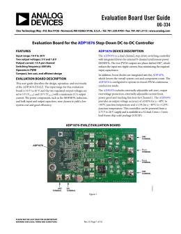 Evaluation Board User Guide UG-334
