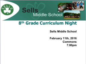 8 Grade Curriculum Night th