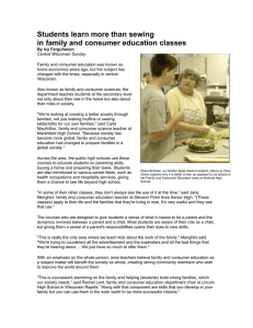 Students learn more than sewing in family and consumer education classes