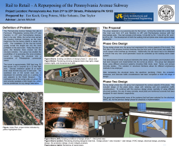 Rail to Retail – A Repurposing of the Pennsylvania Avenue... Prepared by Definition of Problem The Proposal