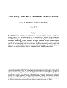 Smart Money? The Effect of Education on Financial Outcomes
