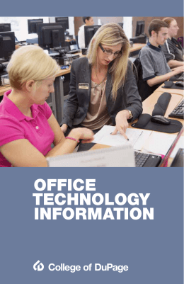 OFFICE TECHNOLOGY INFORMATION