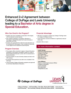Enhanced 2+2 Agreement between College of DuPage and Lewis University