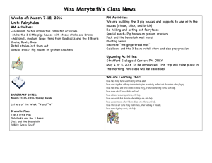 Miss Marybeth's Class News Weeks of: March 7-18, 2016 Unit: Fairytales