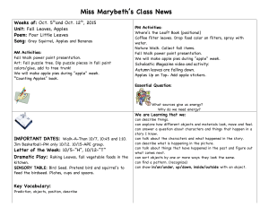 Miss Marybeth's Class News Weeks of: Unit: