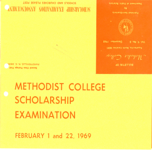METHODIST COLLEGE SCHOLARSHIP EXAMINATION