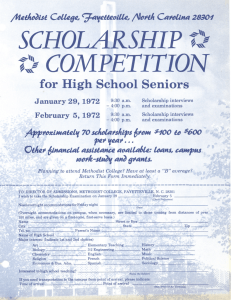 SCHOLARSHIP COMPETITION ~,~ for High School Seniors