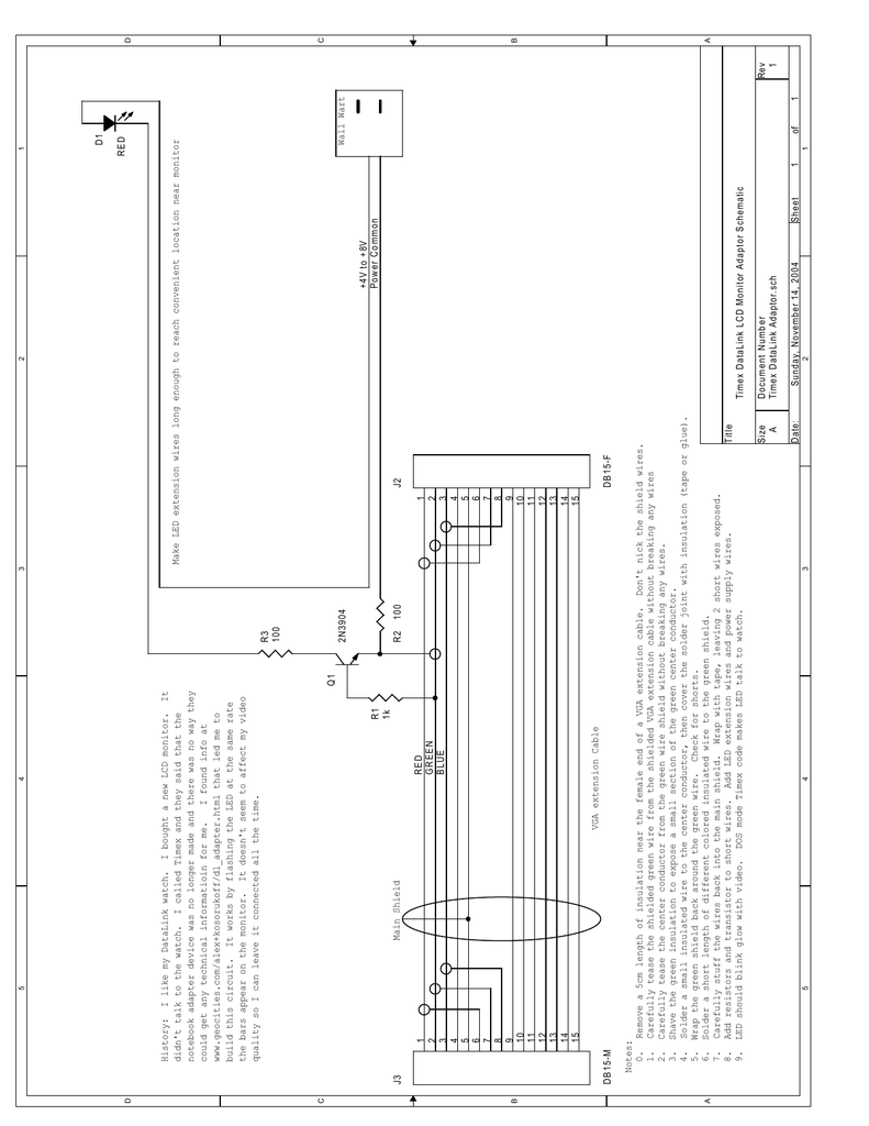 Wall Wart 1 Rev of Wall Wart Schematic Diagrams on