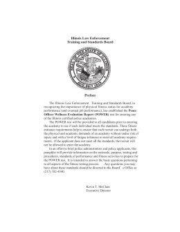 Illinois Law Enforcement Training and Standards Board Preface