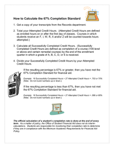 How to Calculate the 67% Completion Standard
