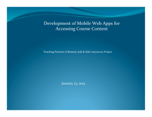Development of Mobile Web Apps for Accessing Course Content