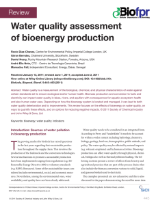 Water quality assessment of bioenergy production Review