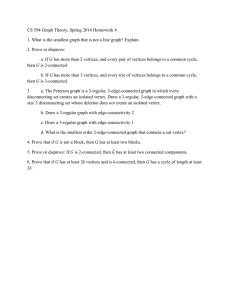 CS 594 Graph Theory, Spring 2014 Homework 4