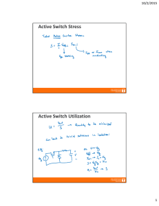 Active Switch Stress Active Switch Utilization 10/2/2015 1