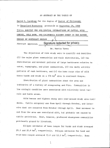 AN ABSTRACT OF THE THESIS OF presentd on September 19, 1983