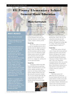 Eli Pinney Elementary School General Music Education Music Curriculum