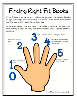 Finding Right Fit Books