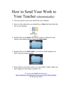 How to Send Your Work to Your Teacher  (electronically)