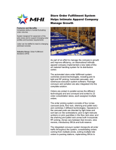 Store Order Fulfillment System Helps Intimate Apparel Company Manage Growth