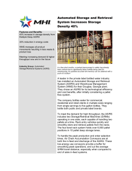 Automated Storage and Retrieval System Increases Storage Density 40%