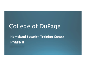 College of DuPage Phase II Homeland Security Training Center