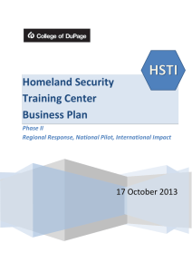 Homeland Security Training Center Business Plan