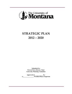 STRATEGIC PLAN 2012 – 2020