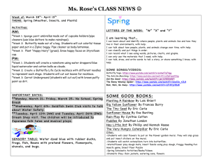 Ms. Rose's CLASS NEWS AM: