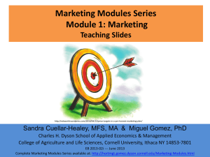 Marketing Modules Series Module 1: Marketing Teaching Slides