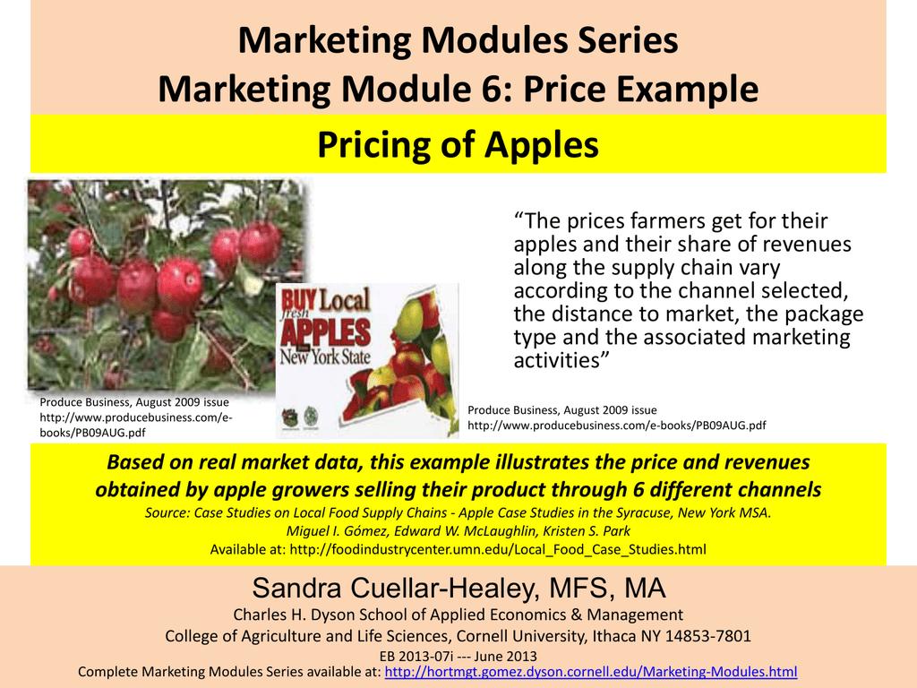 Marketing Modules Series Marketing Module 6: Price Example Pricing